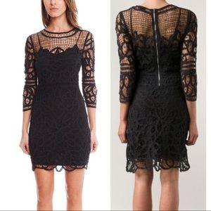 Rag & Bone Nancy Black Crochet Lace Net Dress